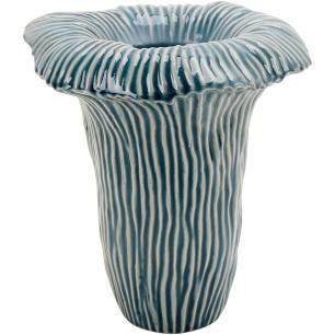 Vaso Cerâmica Azul Home&Co Matira 26X25X25Cm