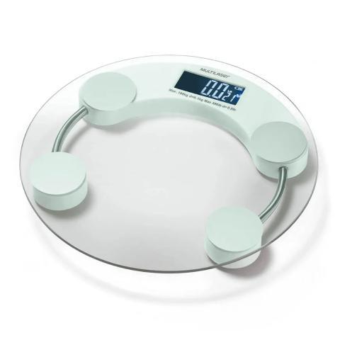 Balança Digital Multilaser Eatsmart HC039 Vidro Visor LCD Redonda