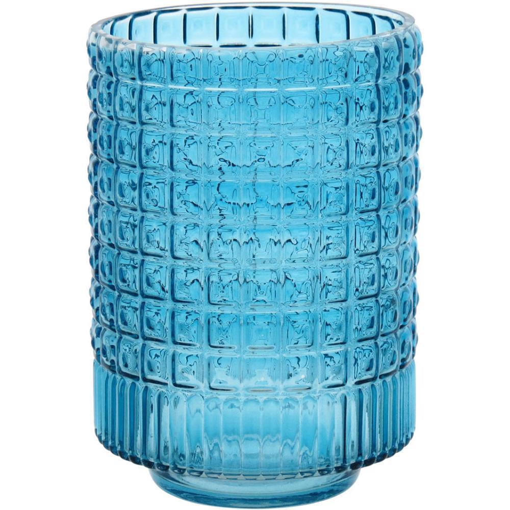 Vaso Vidro Azul Aimez 23X17X17Cm