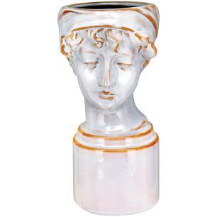 Vaso Cerâmica Bege Home&Co Nero 25X12X16Cm