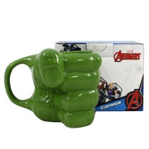 Caneca 3D Marvel Hulk 350ml Verde Mão Hulk Cerâmica