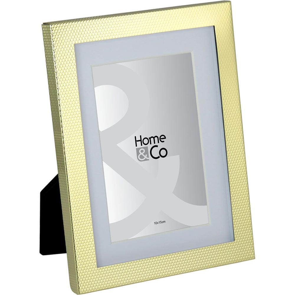 Porta-Retratos Metal Dourado 10X15 Home&Co Vennet 21X16X2Cm
