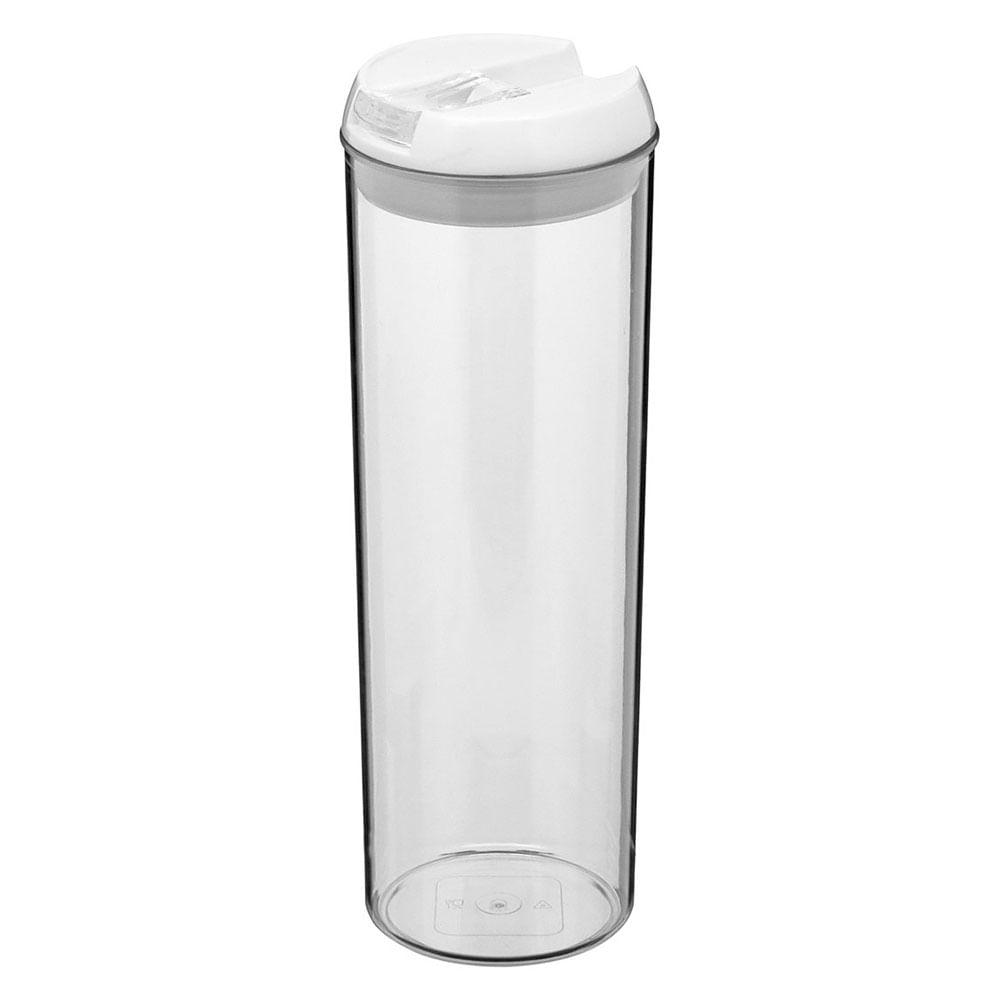 Pote Hermético Plástico Transparente 1,8L Pratik 31X10X10Cm