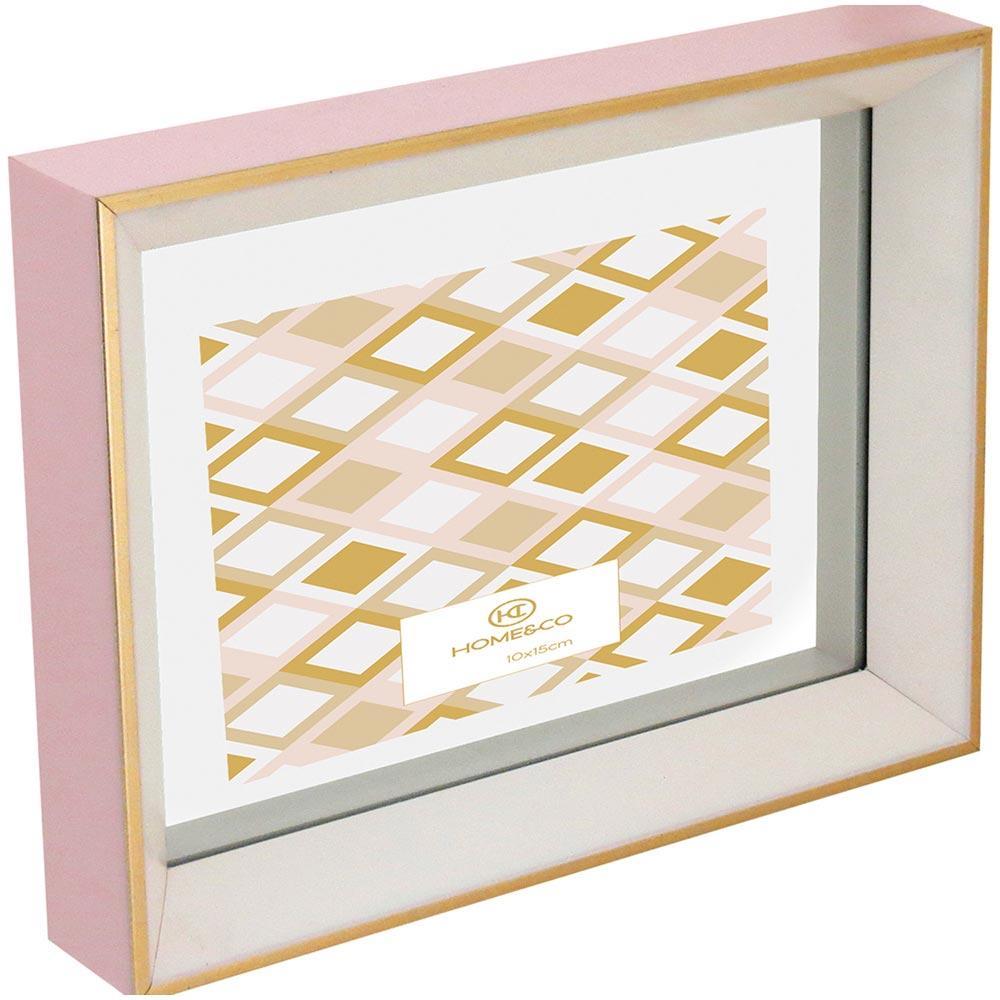 Porta-Retratos Plástico Rosa 15X10 Home&Co Pasteur 23X17X4Cm