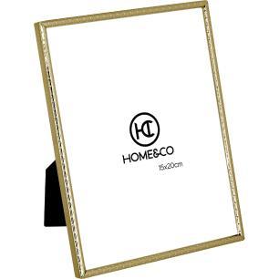 Porta-Retratos Metal Dourado 15X20 Home&Co Homz 21X16X1Cm
