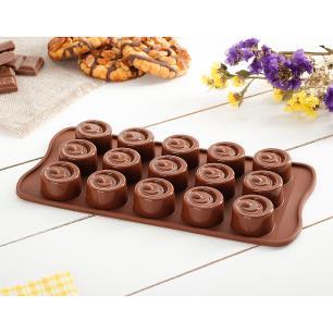 Molde de Silicone Para Chocolate Vertigo Silikomart