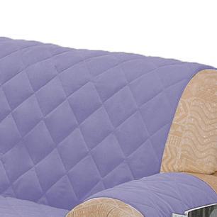 Protetor Para Sofá De 02 Lugares Com Assento De 1,05M Microfibra Matelado - Lilás