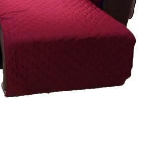 Protetor Para Sofá De 2 Módulos Microfibra Matelado Retrátil Reclinável com Assento De 2,60M - Vinho