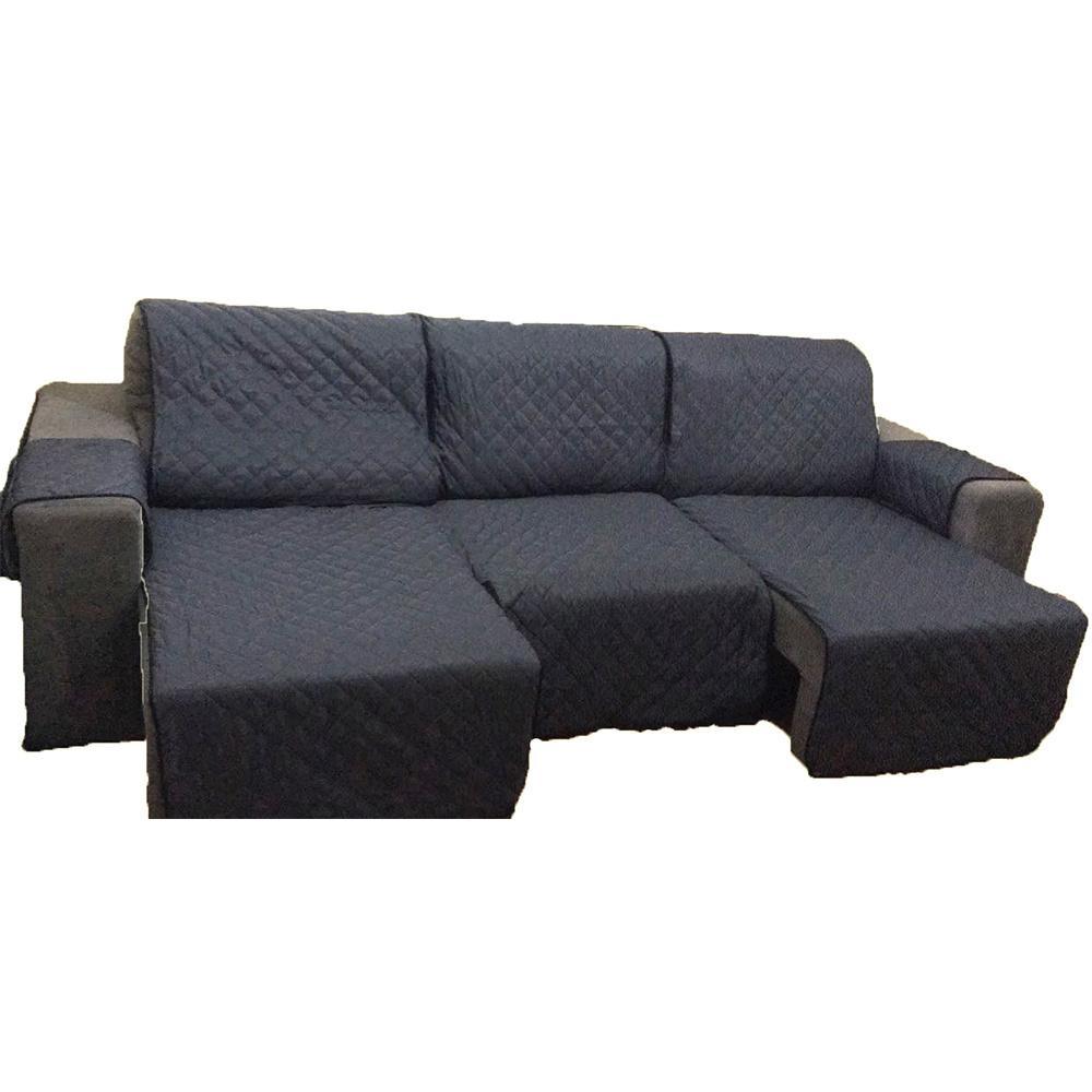 Protetor Para Sofá De 3 Módulos Microfibra Matelado Retrátil Reclinável Com Assento De 2,70M