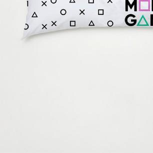 Travesseiro De Corpo Aconchego 1,30m X 38cm Com Fronha Microfibra Estampado - Gamer