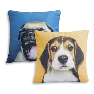 Kit Almofadas Estampas 02 Peças 42cm x 42cm Microfibra - Dogs