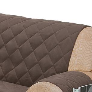 Protetor Para Sofá De 02 Lugares Com Assento De 1,30M Microfibra Matelado - Tabaco
