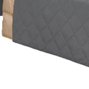 Protetor Para Sofá De 02 Lugares Com Assento De 1,10M Microfibra Matelado - Chumbo