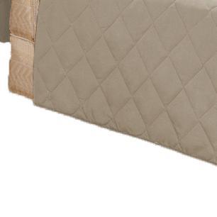 Protetor Para Sofá De 02 Lugares Com Assento De 1,00M Microfibra Matelado - Cáqui