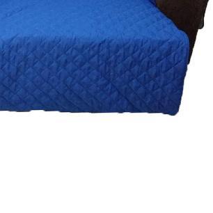 Protetor Para Sofá De 2 Módulos Microfibra Matelado Retrátil Reclinável Com Assento De 2,80M - Azul