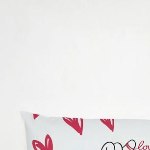 Travesseiro De Corpo Aconchego 1,30m X 38cm Com Fronha Microfibra Estampado - Love