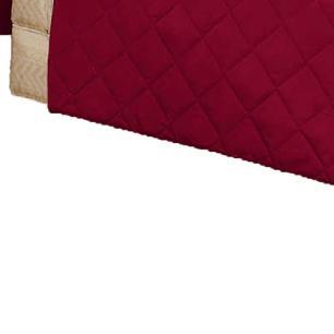 Protetor Para Sofá De 02 Lugares Com Assento De 1,05M Microfibra Matelado - Vinho