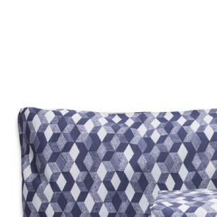 Jogo de Cama Casal Padrão Estampado Percal 140 fios 03 peças Premium - Azul Serenity