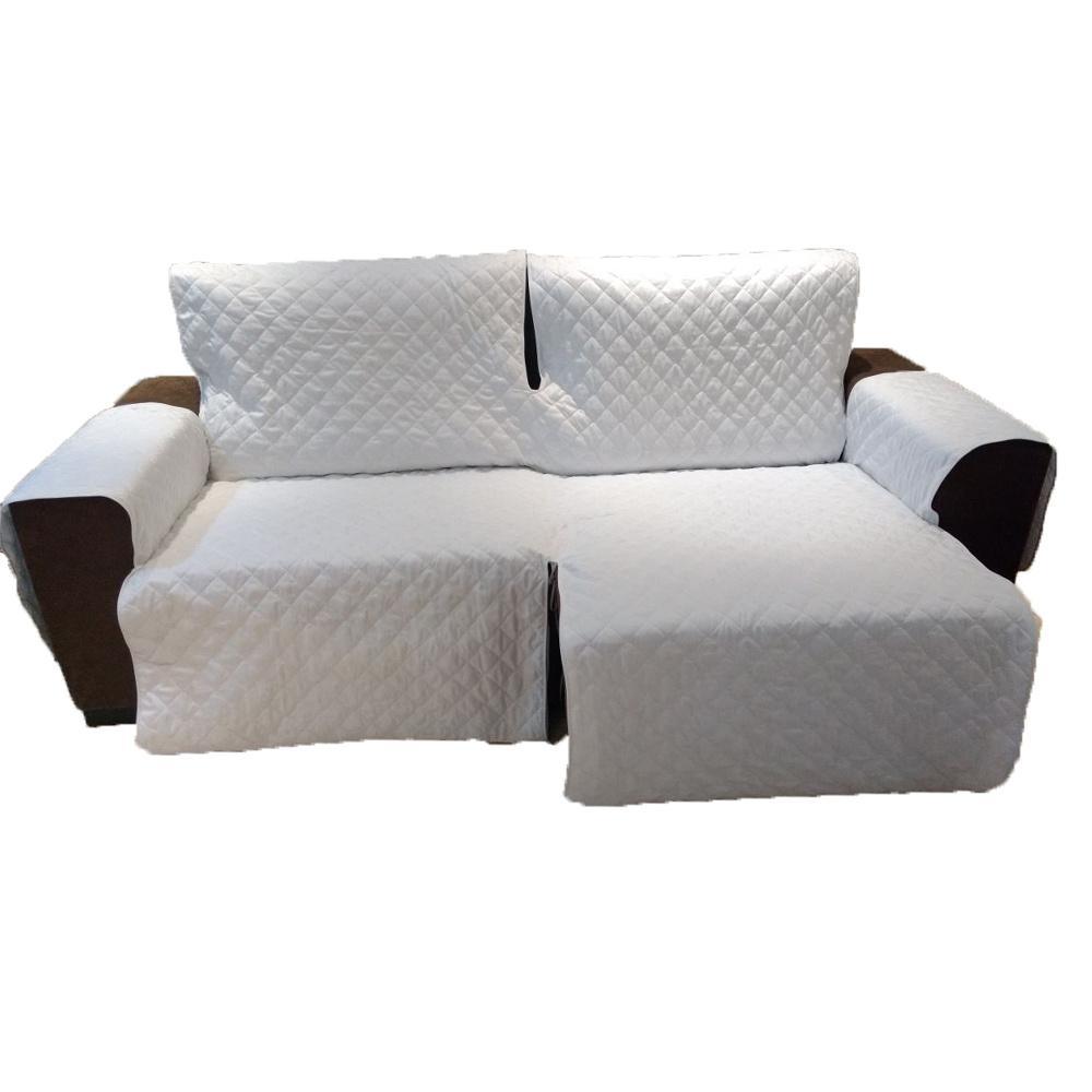 Protetor Para Sofá De 2 Módulos Microfibra Matelado Retrátil Reclinável com Assento De 2,70M - Palha