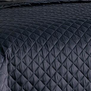 Cobre Leito Casal Padrão Matelado Ultrassônico Tecido Microfibra Kit 08 Peças Isabela - Cinza