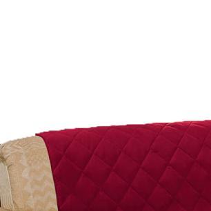 Protetor De Sofá Microfibra Matelado Retrátil Reclinável Com Assento De 2,30M - Vinho