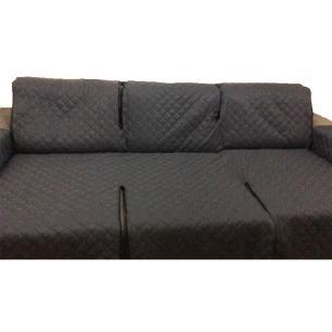 Protetor Para Sofá De 3 Módulos Microfibra Matelado Retrátil Reclinável Com Assento De 1,60M