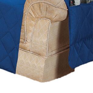 Protetor Para Sofá De 02 Lugares Com Assento De 1,05M Microfibra Matelado - Azul