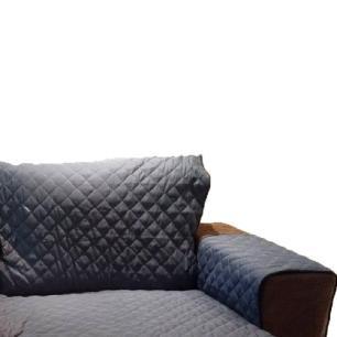 Protetor Para Sofá De 2 Módulos Microfibra Matelado Retrátil Reclinável Com Assento De 1,70M - Chumbo