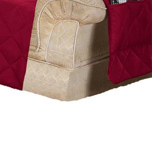 Protetor Para Sofá De 02 Lugares Com Assento De 1,40M Microfibra Matelado - Vinho