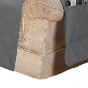 Protetor Para Sofá De 02 Lugares Com Assento De 1,40M Microfibra Matelado - Chumbo