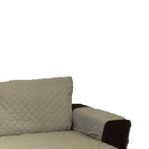 Protetor Para Sofá De 2 Módulos Microfibra Matelado Retrátil Reclinável Com Assento De 1,50M - Cáqui
