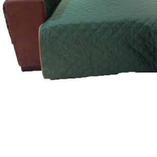 Protetor Para Sofá De 2 Módulos Microfibra Matelado Retrátil Reclinável com Assento De 2,40M - Verde Musgo