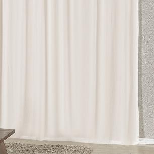Cortina Com Bandô Esplendore Em Malha Gel 3,00M x 2,60M Para Varão Duplo - Avelã Com Palha