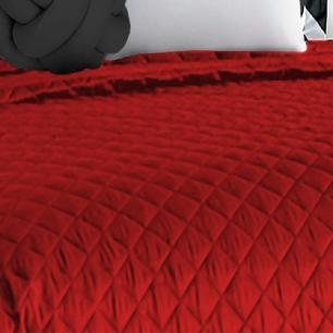 Cobre Leito Casal Padrão Matelado Ultrassônico Tecido Microfibra Kit 08 Peças Isabela - Vermelho