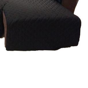 Protetor Para Sofá De 2 Módulos Microfibra Matelado Retrátil Reclinável com Assento De 2,70M - Preto