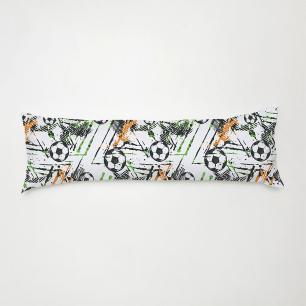 Travesseiro De Corpo Aconchego 0,90cm X 0,38cm Com Fronha Microfibra Estampado - Bola