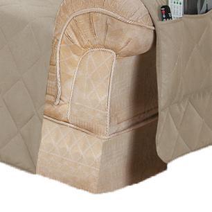 Protetor Para Sofá De 02 Lugares Com Assento De 1,30M Microfibra Matelado - Cáqui
