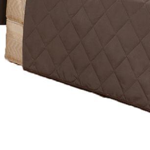 Protetor Para Sofá De 02 Lugares Com Assento De 1,05M Microfibra Matelado - Tabaco
