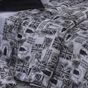 Edredom Casal Queen Dupla Face Classic Estampado Tecido 160 fios - London