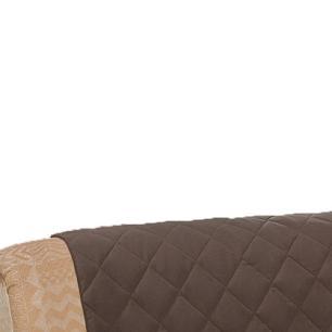 Protetor De Sofá Microfibra Matelado Retrátil Reclinável Com Assento De 2,10M - Tabaco