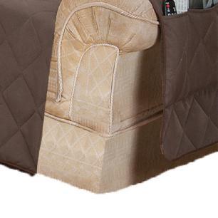 Protetor Para Sofá De 02 Lugares Com Assento De 1,20M Microfibra Matelado - Tabaco