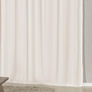 Cortina Com Bandô Esplendore Em Malha Gel 3,00M x 2,60M Para Varão Duplo - Verde Com Branco