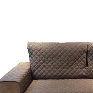 Protetor Para Sofá De 2 Módulos Microfibra Matelado Retrátil Reclinável com Assento De 2,60M - Tabaco