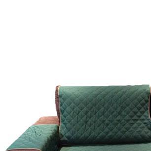 Protetor Para Sofá De 2 Módulos Microfibra Matelado Retrátil Reclinável Com Assento De 2,20M - Verde Musgo