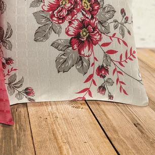 Kit 04 Capas De Almofada 45cm X 45cm Decorativas Tecido Maquinetado Texturizado - Vermelho
