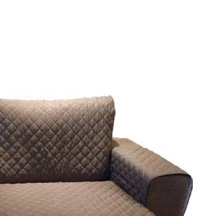 Protetor Para Sofá De 2 Módulos Microfibra Matelado Retrátil Reclinável Com Assento De 2,00M Tabaco