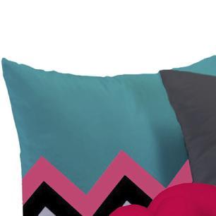 Almofada Nó Escandinavo + 02 Almofadas Microfibra 45cm x 45cm Coleção Love - Pink