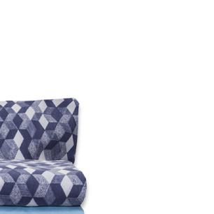 Jogo de Cama Casal Padrão Estampado Percal 140 fios 04 peças Premium - Azul Serenity