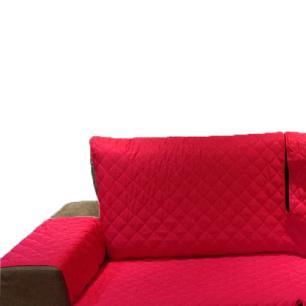 Protetor Para Sofá De 2 Módulos Microfibra Matelado Retrátil Reclinável com Assento De 2,60M - Vermelho