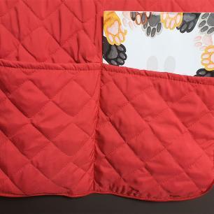 Protetor De Sofá Microfibra Matelado Para Poltrona Com Assento De 80CM - Vermelho